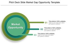 Pitch Deck Slide Market Gap Opportunity Template PPT Example