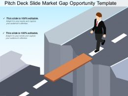 Pitch Deck Slide Market Gap Opportunity Template Presentation Graphics