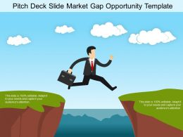 Pitch Deck Slide Market Gap Opportunity Template Sample Of Ppt