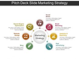 Pitch Deck Slide Marketing Strategy Ppt Icon