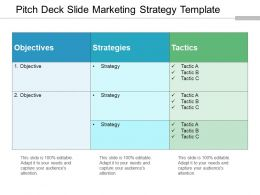 Pitch Deck Slide Marketing Strategy Template Example Of Ppt