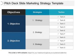 Pitch Deck Slide Marketing Strategy Template Good Ppt Example