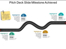 Pitch Deck Slide Milestone Achieved 1 Ppt Ideas