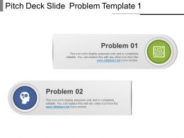 Pitch Deck Slide Problem Template 1 Ppt Examples