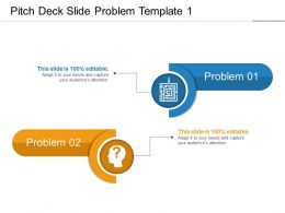 Pitch Deck Slide Problem Template 1 Presentation Images