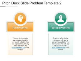 Pitch Deck Slide Problem Template 2 Powerpoint Guide