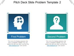 Pitch Deck Slide Problem Template 2 Presentation Images