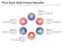 Pitch Deck Slide Product Benefits Powerpoint Slide