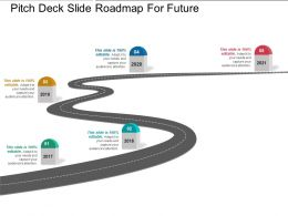 Pitch Deck Slide Roadmap For Future Presentation Layouts