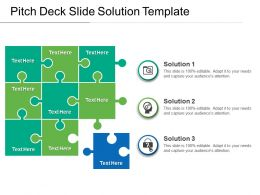 Pitch Deck Slide Solution Template PowerPoint Images