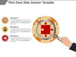 Pitch Deck Slide Solution Template Presentation Outline