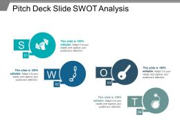 Pitch Deck Slide Swot Analysis Ppt Slide Design