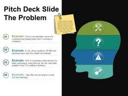 Pitch Deck Slide The Problem Ppt Slide Styles