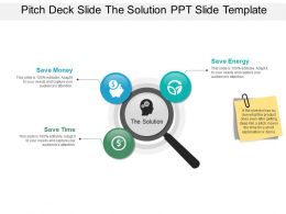 Pitch Deck Slide The Solution PPT Slide Template