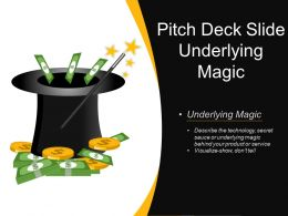 Pitch Deck Slide Underlying Magic Presentation Pictures