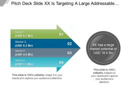 Pitch Deck Slide Xx Is Targeting A Large Addressable Market PPT Templates