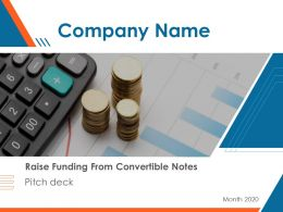 Pitch Deck To Raise Funding From Convertible Notes Powerpoint Presentation Slides