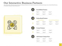 Pitch Deck To Raise Interactive Business Partners Social Media Ppt Powerpoint Presentation Slides