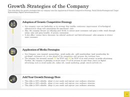 Pitch Deck To Raise Of The Company Generic Competitive Ppt Powerpoint Diagrams