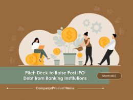 Pitch Deck To Raise Post IPO Debt From Banking Institutions Powerpoint Presentation Slides