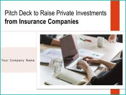 Pitch Deck To Raise Private Investments From Insurance Companies Powerpoint Presentation Slides