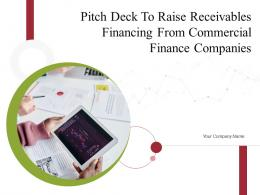 Pitch Deck To Raise Receivables Financing From Commercial Finance Companies Complete Deck