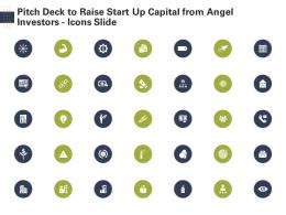 Pitch Deck To Raise Start Up Capital From Angel Investors Icons Slide Ppt Designs