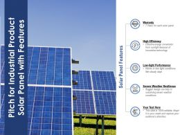 Pitch For Industrial Product Solar Panel With Features