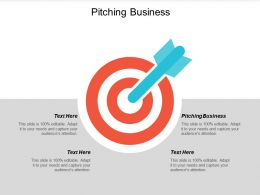 Pitching Business Ppt Powerpoint Presentation Icon Graphics Cpb