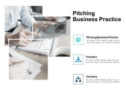Pitching Business Practice Ppt Powerpoint Presentation Infographic Templat Cpb