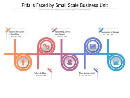 Pitfalls Faced By Small Scale Business Unit