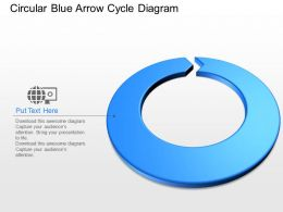 pj Circular Blue Arrow Cycle Diagram Powerpoint Template