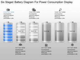 pk Six Staged Battery Diagram For Power Consumption Display Powerpoint Template