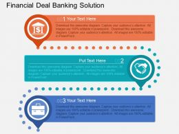 Pl Financial Deal Banking Solution Flat Powerpoint Design