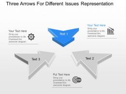 pl Three Arrows For Different Issues Representation Powerpoint Template Slide