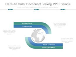 Place An Order Disconnect Leaving Ppt Example