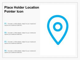 Place Holder Location Pointer Icon