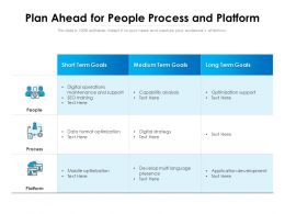Plan Ahead For People Process And Platform