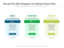 Plan And Price Table For Employee Pension Plans Infographic Template