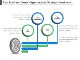 Plan Business Create Organizational Strategy Investment Sourcing