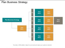 Plan Business Strategy Ppt Powerpoint Presentation Infographics Objects Cpb