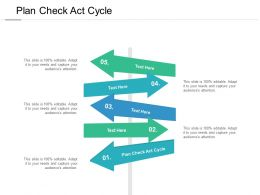 Plan Check Act Cycle Ppt Powerpoint Presentation Styles Grid Cpb