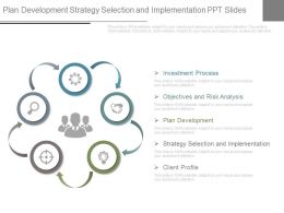 Plan Development Strategy Selection And Implementation Ppt Slides