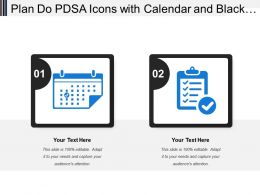 Plan Do Pdsa Icons With Calendar And Black Tick