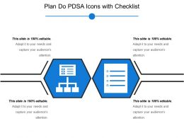 Plan Do Pdsa Icons With Checklist