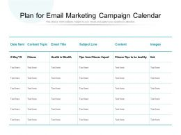 Plan For Email Marketing Campaign Calendar