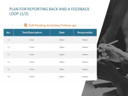 Plan For Reporting Back And A Feedback Loop Date Ppt Powerpoint Graphics Design