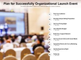 Plan For Successfully Organizational Launch Event