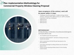 Plan Implementation Methodology For Commercial Property Window Cleaning Proposal Ppt Slides