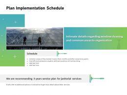 Plan Implementation Schedule Ppt Powerpoint Presentation Infographics Summary
